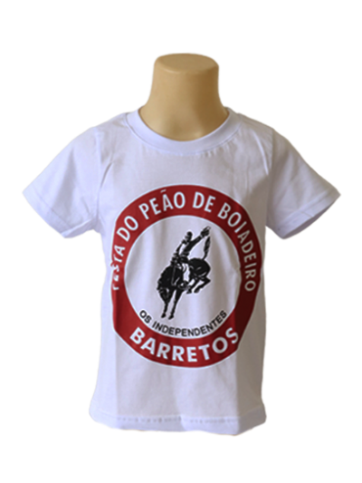 CAMISETA INF. LOGO ROSETA OFICIAL FESTA DO PEÃO DE BARRETOS